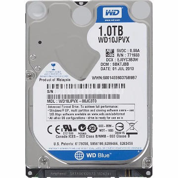 HDD Notebook 1Tb Western Digital Blue SataIII WD10JPVX