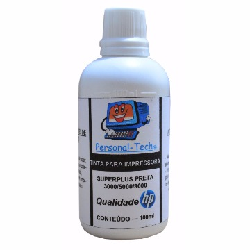 Tinta HP SuperPlus Preta Personal-Tech - 100ml