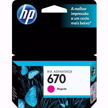 Cartucho HP 670 Colorido Tricolor