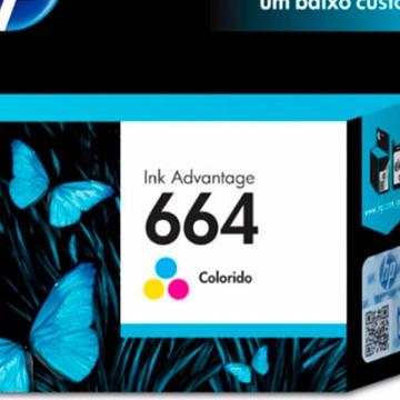 Cartucho HP 664 Colorido Tricolor