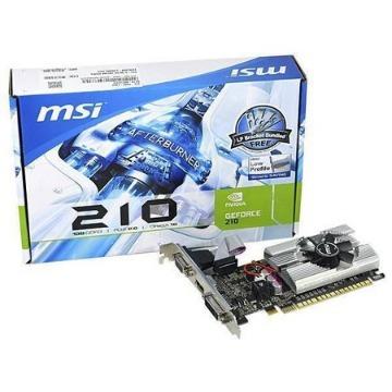 Placa de Vídeo GT210 1Gb 64Bits DDR3 NVidia GeForce MSI