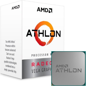 Processador AMD Athlon 200GE, Dual Core, Cache 5MB, 3.2GHz, AM4