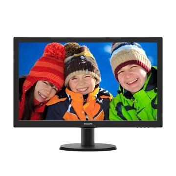 "Monitor Philips 23,6"" LED Full HD 243V5QHABA / DVI / HDMI / Vesa / Multimídia"