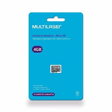 Cartão de Memória Micro SD Classe 4 4Gb Multilaser - MC144