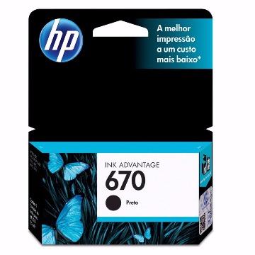 Cartucho de Tinta HP 670 Preto PPB