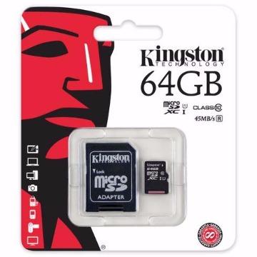 Cartão de Memória SD Kingston Class 10Uhs-I 64Gb Micro+Adaptador