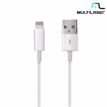 Cabo de Dados Lighting 8 pinos para iPhone, iPod, iPad Branco Multilaser - WI256