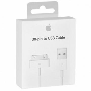 Cabo de Dados Original 30 pinos para iPhone, iPod, iPad Branco MA591FE/C