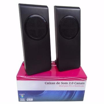 Caixa de Som WiseCase WSSP-317 USB Preto - 1.5W RMS x2