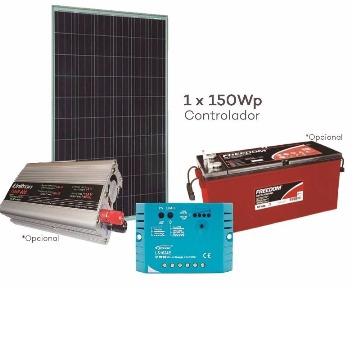 Kit Offgrid- Energia Solar  220Vac 400W com Bateria estacionária 150AH