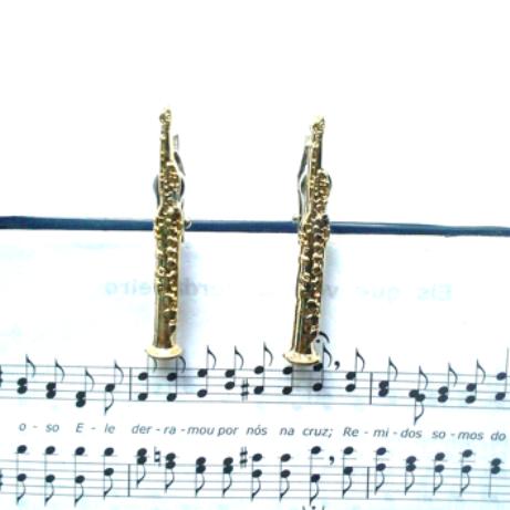 Jogo de Prendedor de Partitura - Sax Soprano