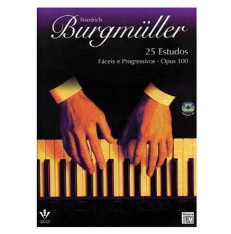 Burgmuller - 25 Estudos Fáceis e Progressivos Op.100 C/CD