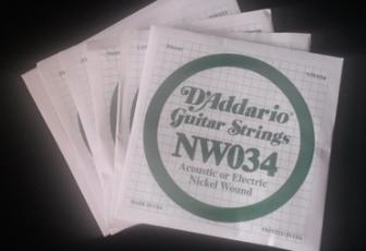 Cordas de Guitarra - D´Addario (Opção de Compra Avulsas)