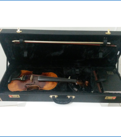 Case para Violino 4/4 Retangular c/ Fechadura Brami - Kromus - Ouro PBH