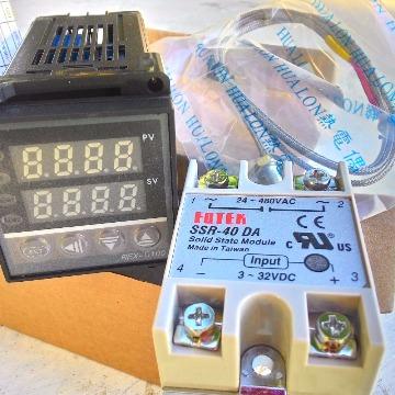 PID Controlador de temperatura com sensor K e relê estado sólido