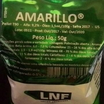Lúpulo Amarillo 2017 9,2 aa - 50 gr