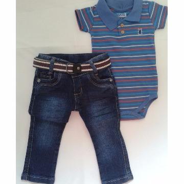 Calça Jeans Slim c  Cinto tam  M - Anjo Travesso - Cacio Moda Infantil  Juvenil Masculina 9894773a4b676