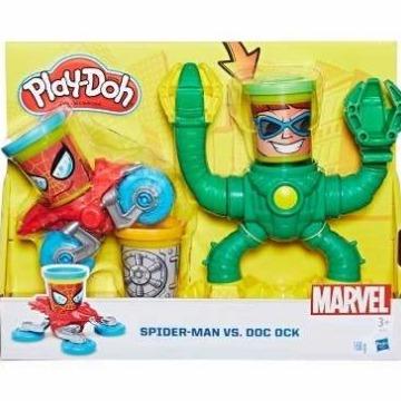 Play-Doh Marvel - Kit Spider Man Vs.  Dc. Octopus