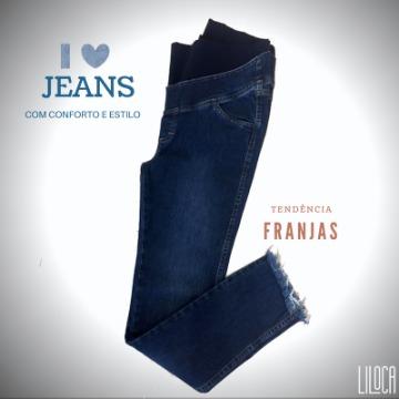Cigarrete Jeans Barra Desfiada  Ref.610