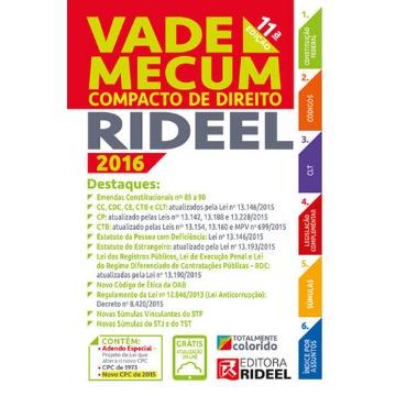 Vade Mecum Compacto de Direito Rideel - 2016