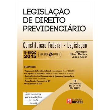 LEGISLAÇAO DE DIREITO PREVIDENCIARIO