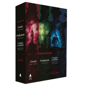 Box - Mestres do Terror - Drácula, Frankenstein, Médico e o Monstro - 3 Volumes