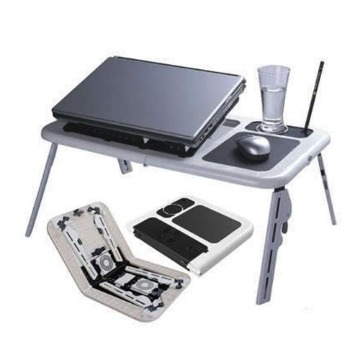 Mesa Notebook Laptop E-table Dobrável Com 2 Coolers Usb