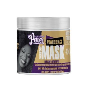 Mascara Soul Power Black Master Mask Hidratação Intensiva 400gr