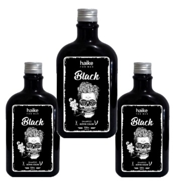Kit 3 Shampoo Restaurador cabelos Grisalhos Gradual Black 230ml