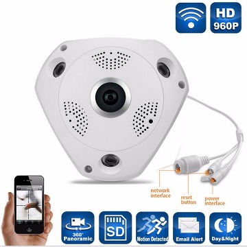 Camera Ip Vrcam Hd Panoramica 360 Wifi 1,3 Mp