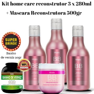 Haike Kit Reconstrutor BB Cream + Mascara Reconstrutora BB mask 500gr