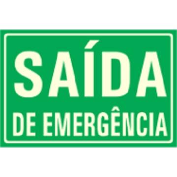 PLACA FOTOLUMINESCENTE - SAÍDA DE EMERGÊNCIA
