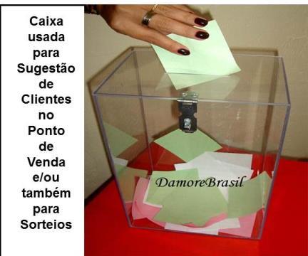 CAIXA DE SUGESTÃO  Nº 2  - 30 CM ALTURA