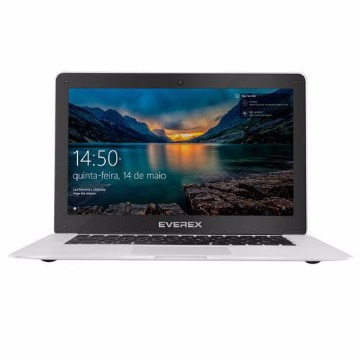 Notebook Everex Intel Quad Core Z8350 2GB DDR3 32GB SSD Windows 10 - Prata