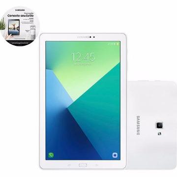 "Tablet Samsung Galaxy Tab A SM-P585M 16GB Wi-Fi 4G Tela 10.1"" Android Processador Octa-Core - Brancot"