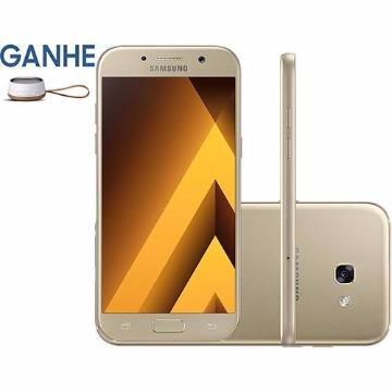 """Smartphone Samsung Galaxy A5 Dual Chip Android 6.0 Tela 5.2"""" Octa-Core 1.9GHz 32GB 4G Câmera 16MP - Dourado"""