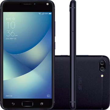 "Smartphone Asus Zenfone 4 Max Dual Chip Android 7 Tela 5.5"" Snapdragon 32GB 4G Câmera Dual Traseira 13MP + 5MP Frontal 8MP - Preto"