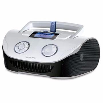 Caixa de Som Boombox 15W RMS USB/P2/FM/Cartao de Memória - Braca/Preta - SP183