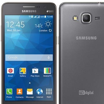"Smartphone Galaxy Gran Prime Dual Chip Cinza Tela5"", 3G+WiFi , Android4.4 , Câmera 8MP , 8GB , TV Digital (Emb. contém 1un.) - Samsung"