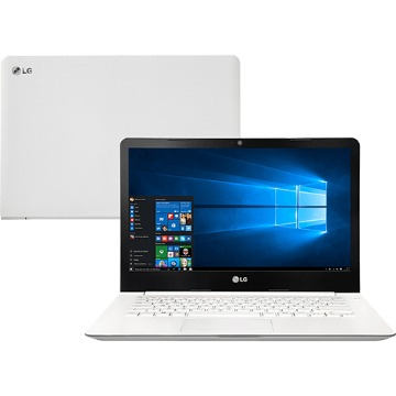 Notebook LG 14U360-L.BJ36P1 Intel Celeron Quad Core 4GB 500GB Tela LED 14 W10 - Branco