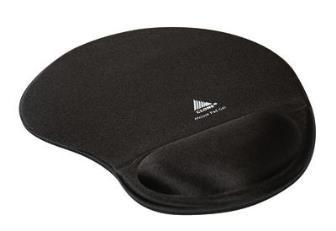 Mouse pad ergonômico com apoio em gel 4036 Clone - preto