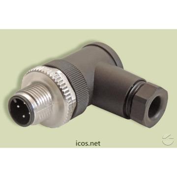 Conector M12 90° Macho - Icos