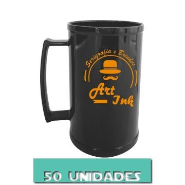 CANECA PRETA 500ML (50 UNIDADES)