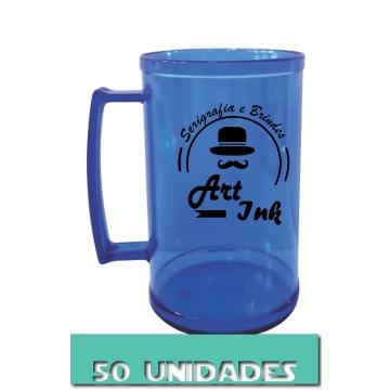 CANECA AZUL NEON 500ML (50 UNIDADES)
