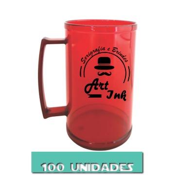 CANECA VERMELHA RUBI 500ML (100 UNIDADES)