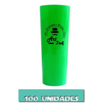 LONG DRINK VERDE 350ML 100 UNIDADES