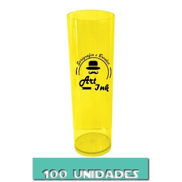 LONG DRINK AMARELO NEON 350ML 100 UNIDADES