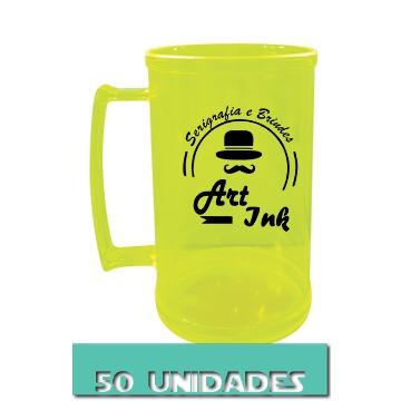 CANECA AMARELO NEON 500ML (50 UNIDADES)