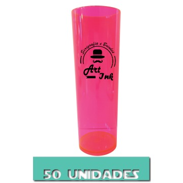 LONG DRINK ROSA NEON 350ML 50 UNIDADES
