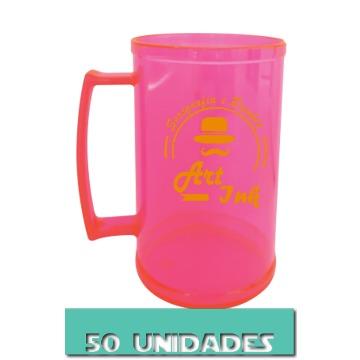CANECA ROSA NEON 500ML (50 UNIDADES)